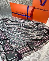 Брендовый шёлковый платок в стиле LV