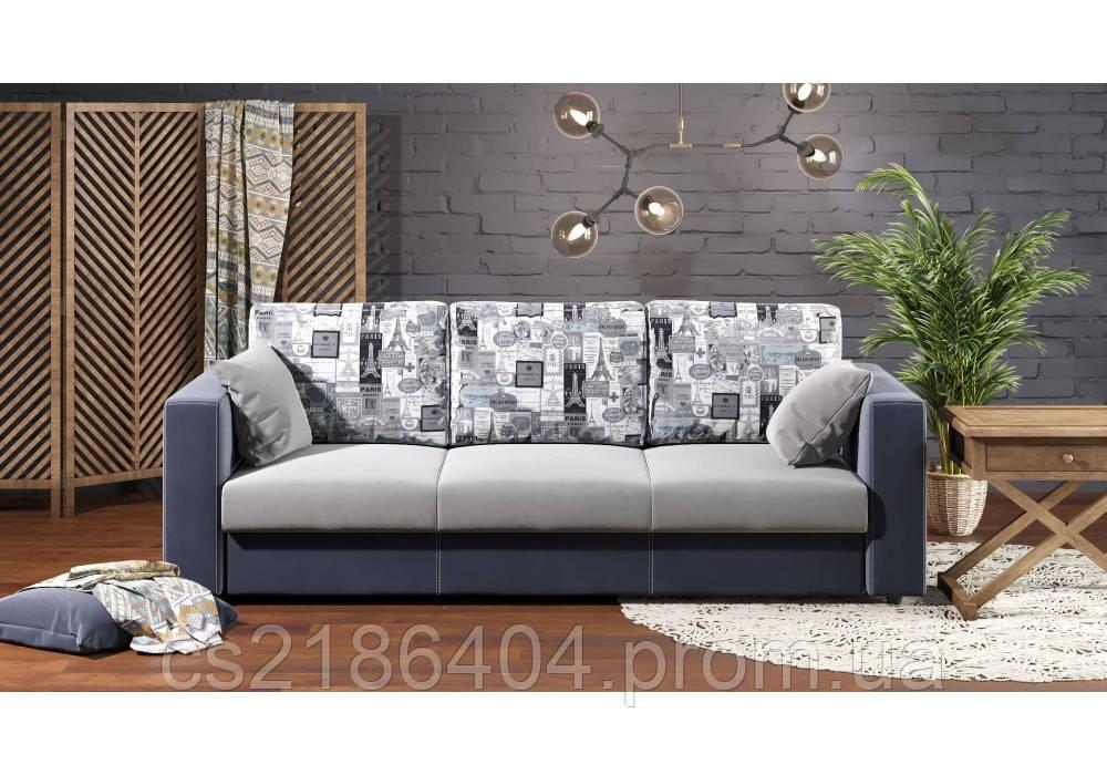 Прямий прозкладний диван у комбінованій тканині  KOMBI 2 / КОМБИ 2
