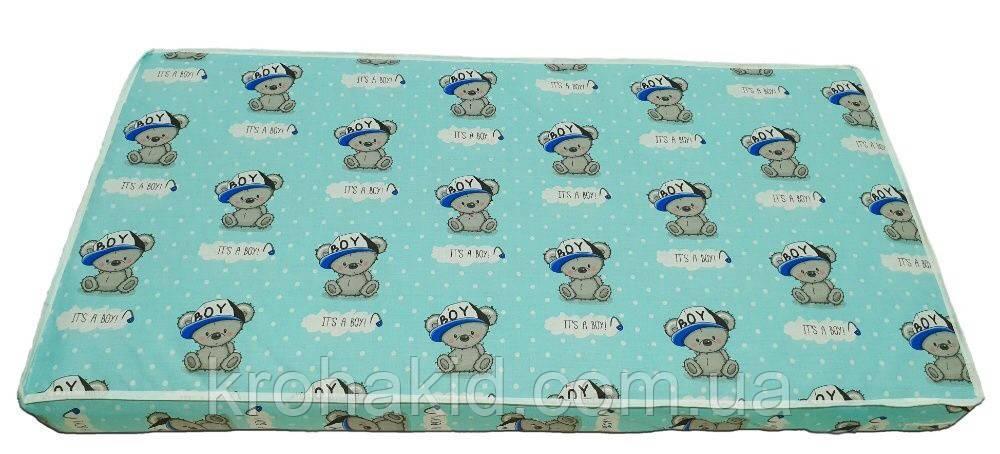 Детский матрас в кроватку кокос-поролон (КП) - 5 см / детский матрасик в манеж