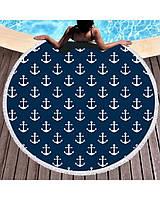 Пляжное полотенце-плед-покрывало 3в1