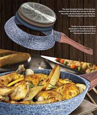 Сковорода из кованого алюминия Ø24х4,8 см, фото 3