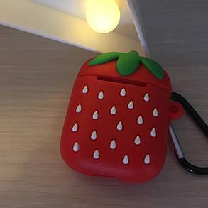 Чехол для наушников  DK Silicone Cartoon Series  для Apple AirPods - Клубничка, фото 2