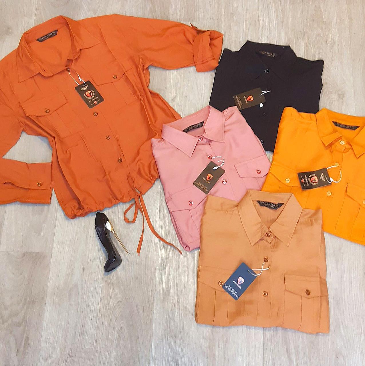 Женская модная рубашка сафари 42-46 (в расцветках)