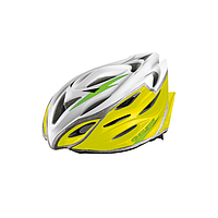 Шлем EXUSTAR BHR104-1 22 отверстия, регулятор, размер L 59-60 см желтый,зеленый,синий
