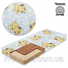 Детский матрас в кроватку кокос-поролон-кокос (КПК) - 10 см / детский матрасик в манеж, фото 2