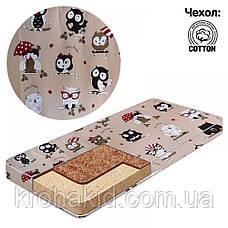Детский матрас в кроватку кокос-поролон-кокос (КПК) - 10 см / детский матрасик в манеж, фото 3
