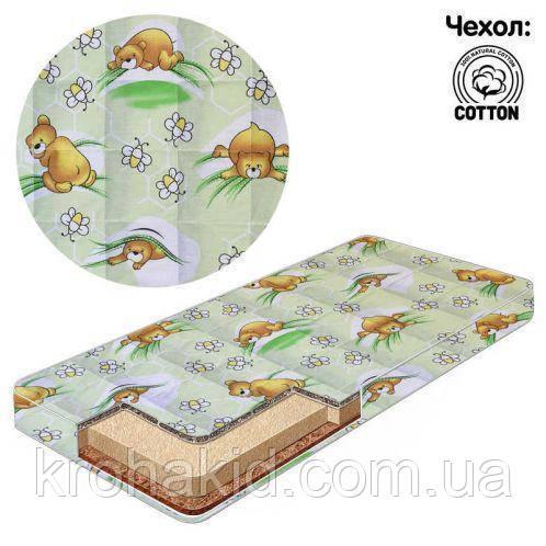 Детский матрас в кроватку кокос-поролон-кокос (КПК) - 10 см / детский матрасик в манеж