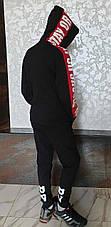 Модная черная кофта-кенгуру с капюшоном на мальчиков 152,158,164,170,176 роста Enkore весна, фото 3