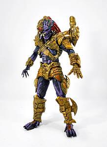Колекційна фігурка Neca Хижак в золотих обладунках з лазером. Lasershot Predator