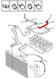 Патрубок радиатора печки №2 Geely CK, фото 2