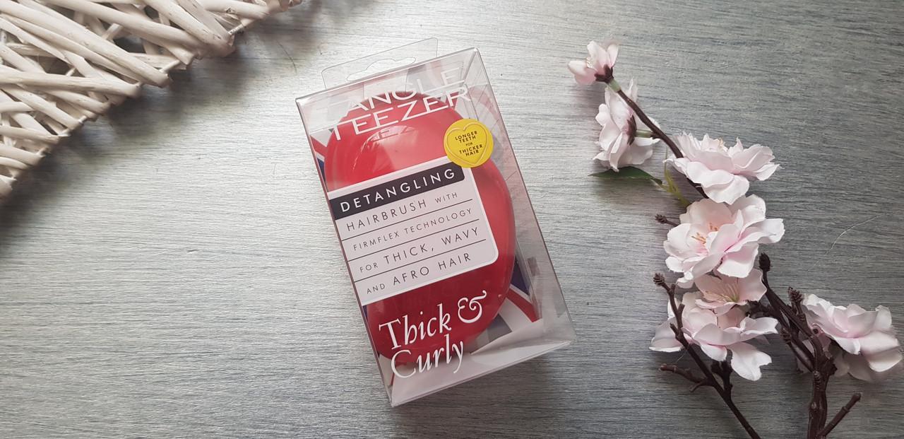 Расческа для густых и вьющихся волос, красная Tangle Teezer Thick & Curly( Оригинал )