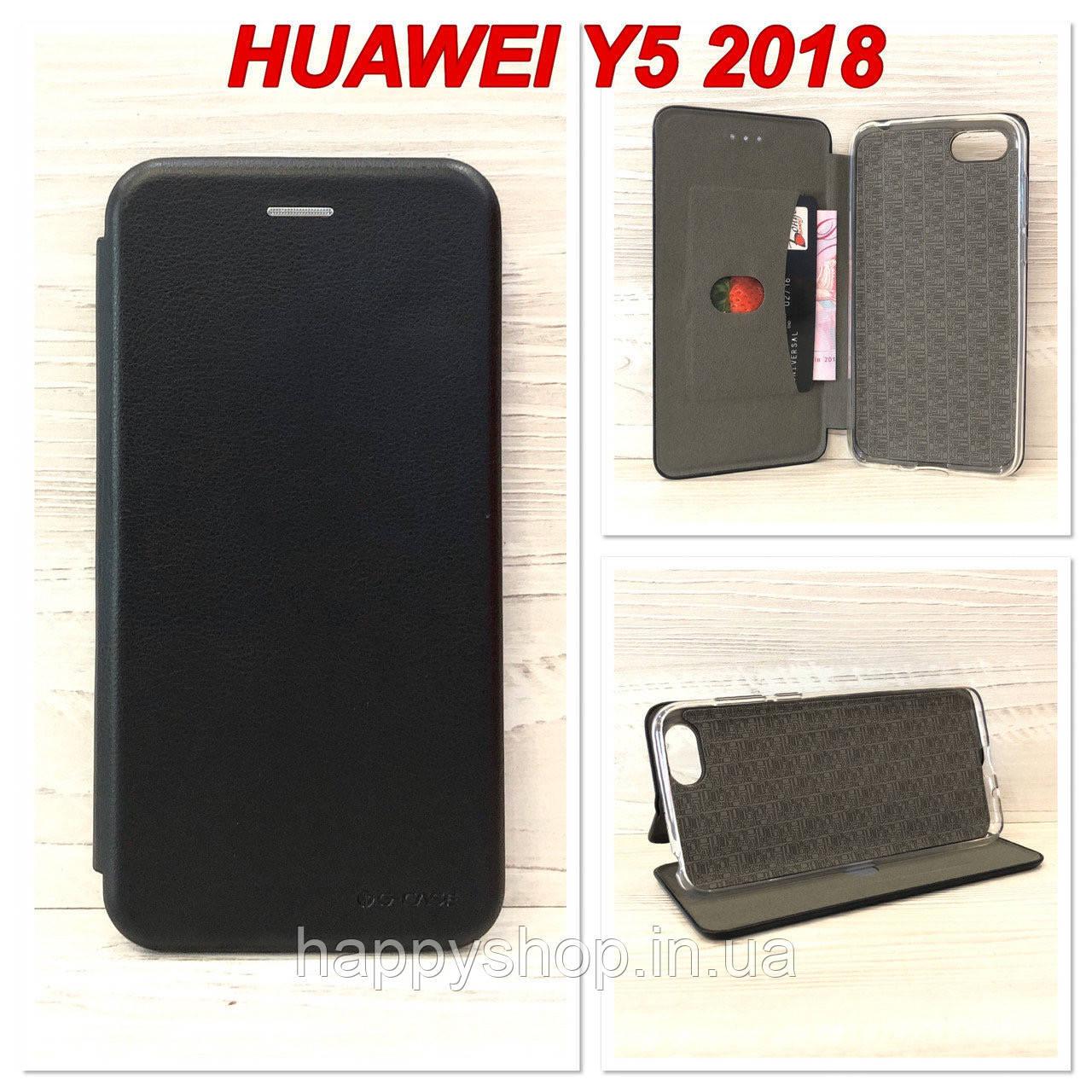 Чехол-книжка G-Case для Huawei Y5 2018 (Черный)