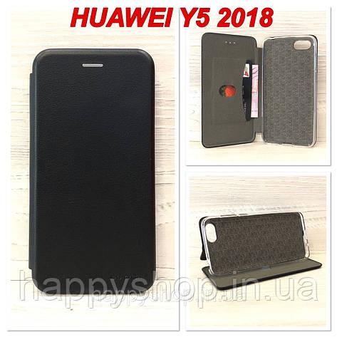 Чехол-книжка G-Case для Huawei Y5 2018 (Черный), фото 2