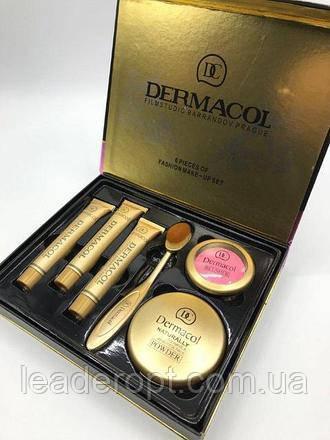 ОПТ Косметичний набір Dermacol Make-up 6 в 1 (тональний крем, пудра, рум'яна) зі щіточкою подарунковий нвбор