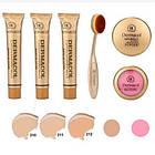 ОПТ Косметичний набір Dermacol Make-up 6 в 1 (тональний крем, пудра, рум'яна) зі щіточкою подарунковий нвбор, фото 2