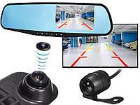 Видеорегистратор зеркало с камерой заднего вида DVR Full HD + Парктроник