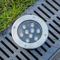 Светильник грунтовый QK-UL-006 LED 9W  230V   размер  160мм*90мм  IP67  6400K, фото 2