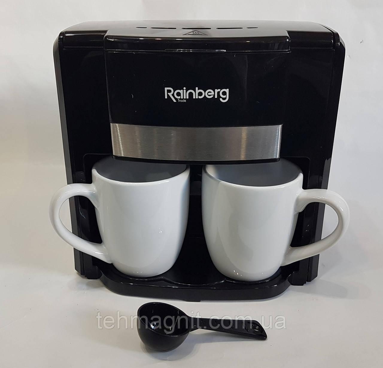 Кофеварка на две чашки 500Вт Rainberg RB-613
