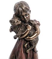 Статуэтка Veronese Девочка с котенком 16 см 1906311, фото 3