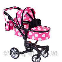Коляска для кукол 2 в 1 Doris 9694 pink, фото 3