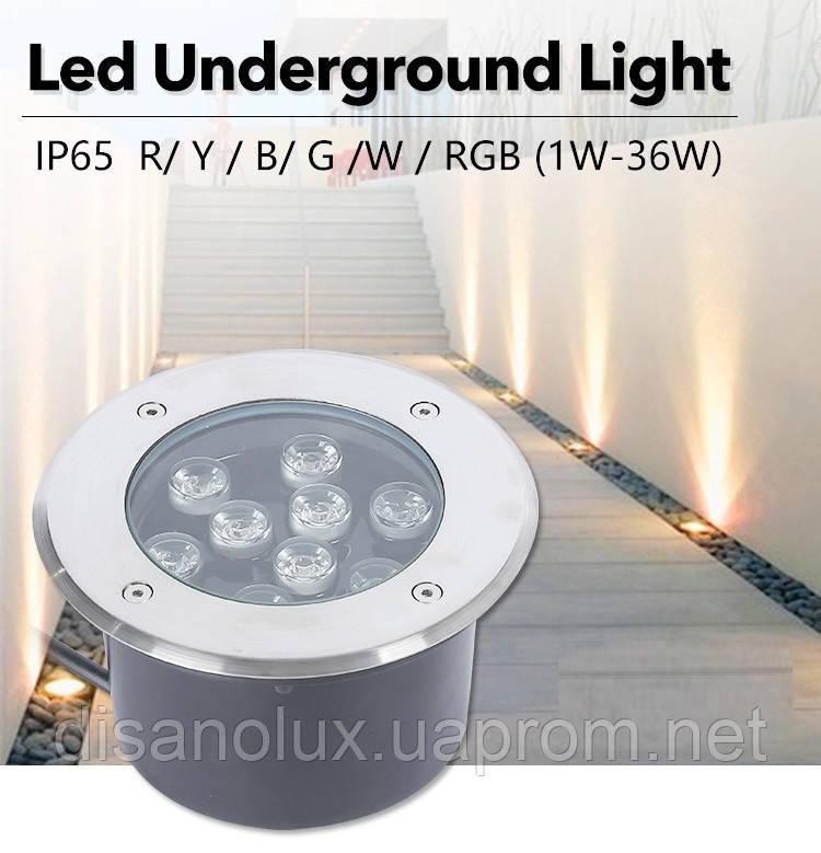 Светильник грунтовый QK-UL-006 LED 9W  230V   размер  160мм*90мм  IP67  6400K