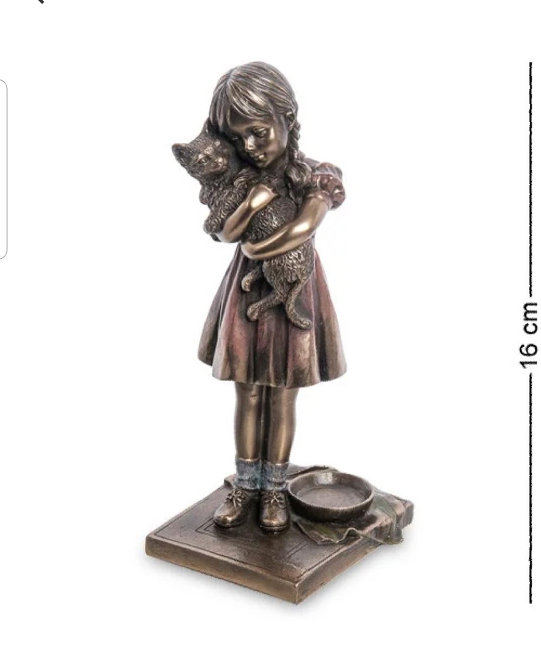 Статуэтка Veronese Девочка с котенком 16 см 1906311