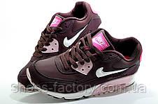 Женские кроссовки в стиле Nike Air Max 90, Бордо, фото 3