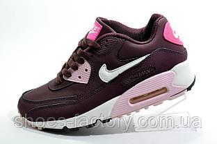 Жіночі кросівки в стилі Nike Air Max 90, Бордо
