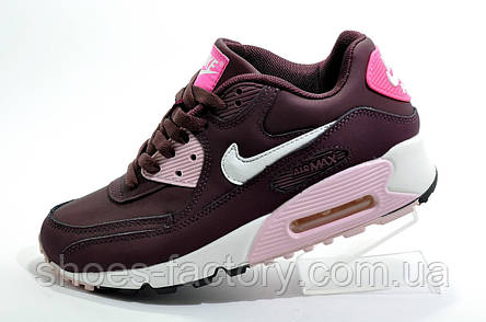 Женские кроссовки в стиле Nike Air Max 90, Бордо, фото 2