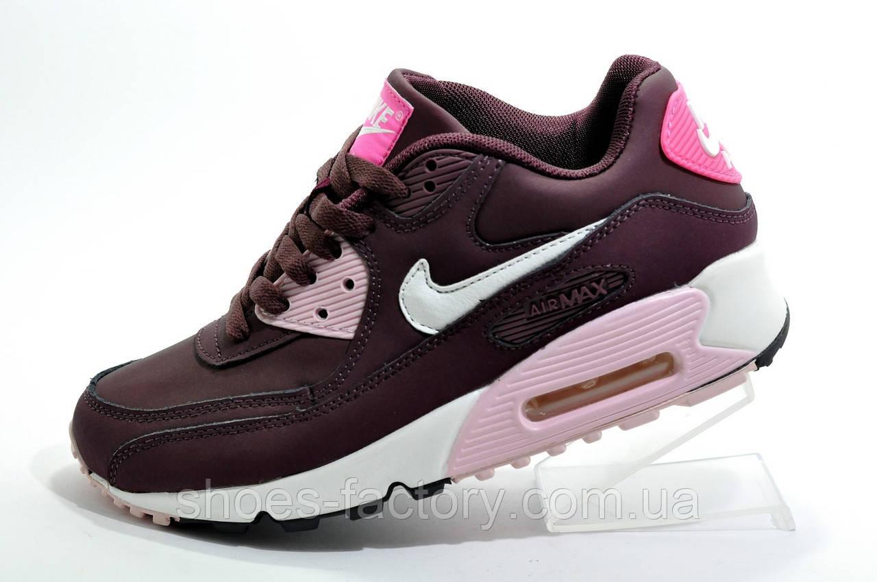 Женские кроссовки в стиле Nike Air Max 90, Бордо