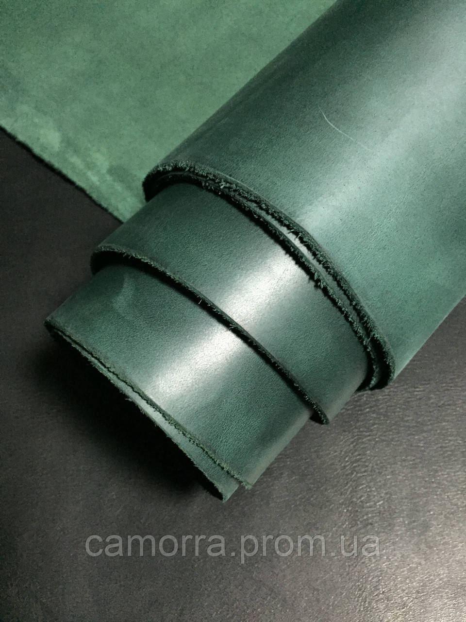Кожа Крейзи Хорс зеленый