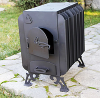 Буржуйка с варочной плитой Батарея: преимущества дровяной печи длительного горения