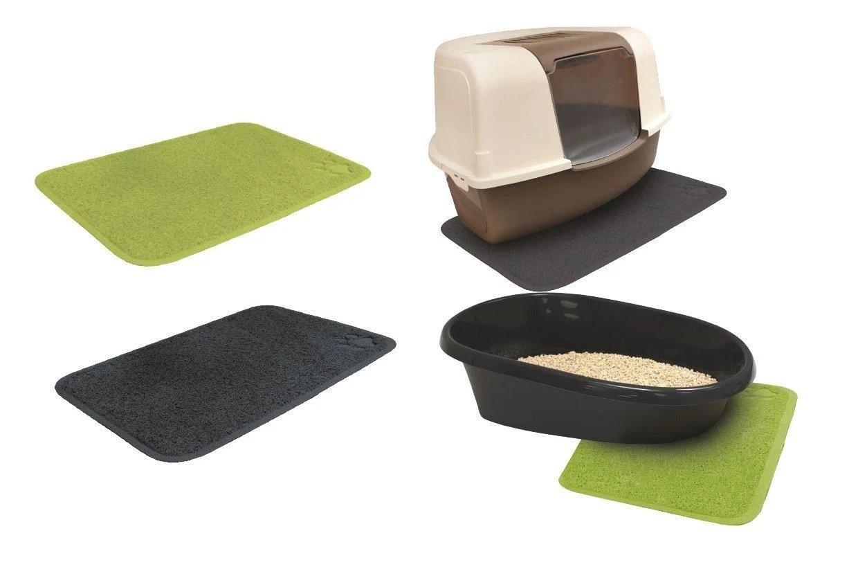 Коврик под туалет для котов зеленый, 60x40 см, Croci