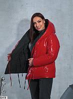 Женская куртка зимняя двухсторонняя, фото 1