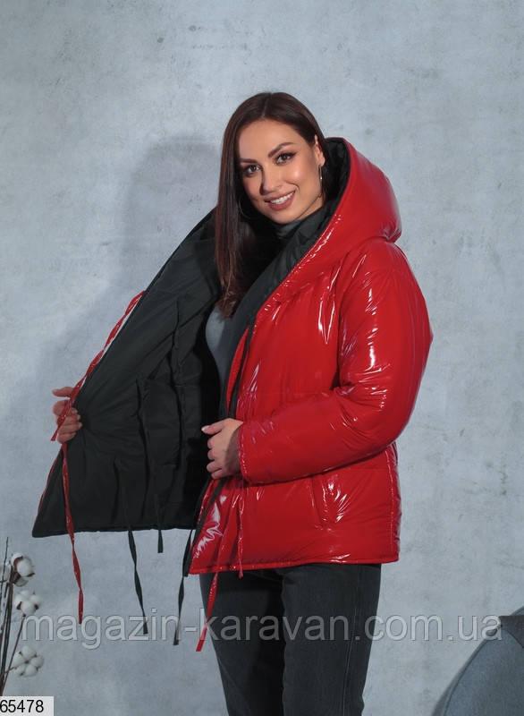 Женская куртка зимняя двухсторонняя