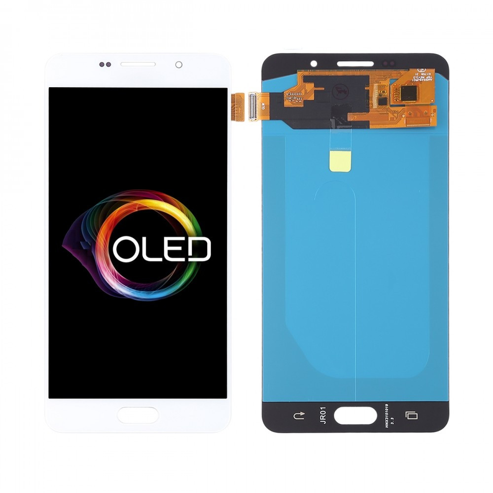 Дисплей (LCD) Samsung A710 Galaxy A7 (2016) OLED з тачскріном, білий