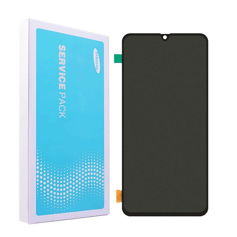 Дисплей (LCD) Samsung GH82-19787A A705 Galaxy A70 (2019) AMOLED з тачскріном, чорний (сервісний оригінал)