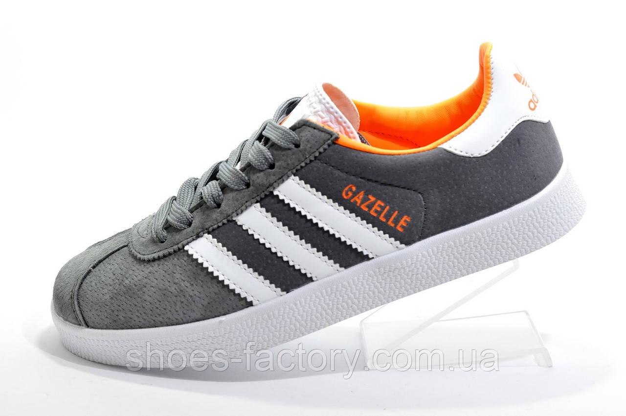 Кроссовки унисекс в стиле Adidas Gazelle OG, Gray\White\Orange