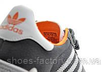 Кроссовки унисекс в стиле Adidas Gazelle OG, Gray\White\Orange, фото 3