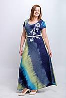 Летнее женское платье Градиент. Размеры 50, 52, 54
