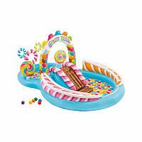 Водный надувной игровой центр Intex 57149 Карамель Candy Zone Play Center (295x191x130 см) + встроенный фонтан