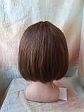 Парик из натуральных волос каре каштановый микс ERIN- P4/30, фото 4