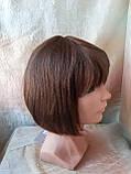 Парик из натуральных волос каре каштановый микс ERIN- P4/30, фото 6