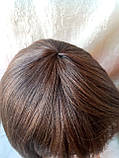Парик из натуральных волос каре каштановый микс ERIN- P4/30, фото 8