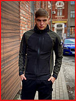 Мужская куртка ветровка Intruder хаки-черная