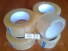Скотч пакувальний 100 м / 45мм / 40 мкм прозорий, міцний, універсальна стрічка клейка пакувальна купити