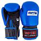 Боксерские перчатки TopTen, кожа, 10oz синий, фото 2