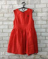 """Підліткове плаття для дівчинки """"Chanel"""" розмір 9-12 років, червоного кольору"""
