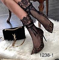Туфлі жіночі класичні  леопардові, фото 1