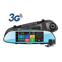 "Зеркало видеорегистратор +GPS навигатор D35 Android LCD 7"" 2 камеры"